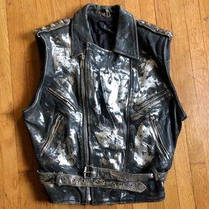 Vintage Studded Motorcyle Vest